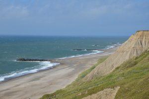 Dänemark Steilküste am Meer