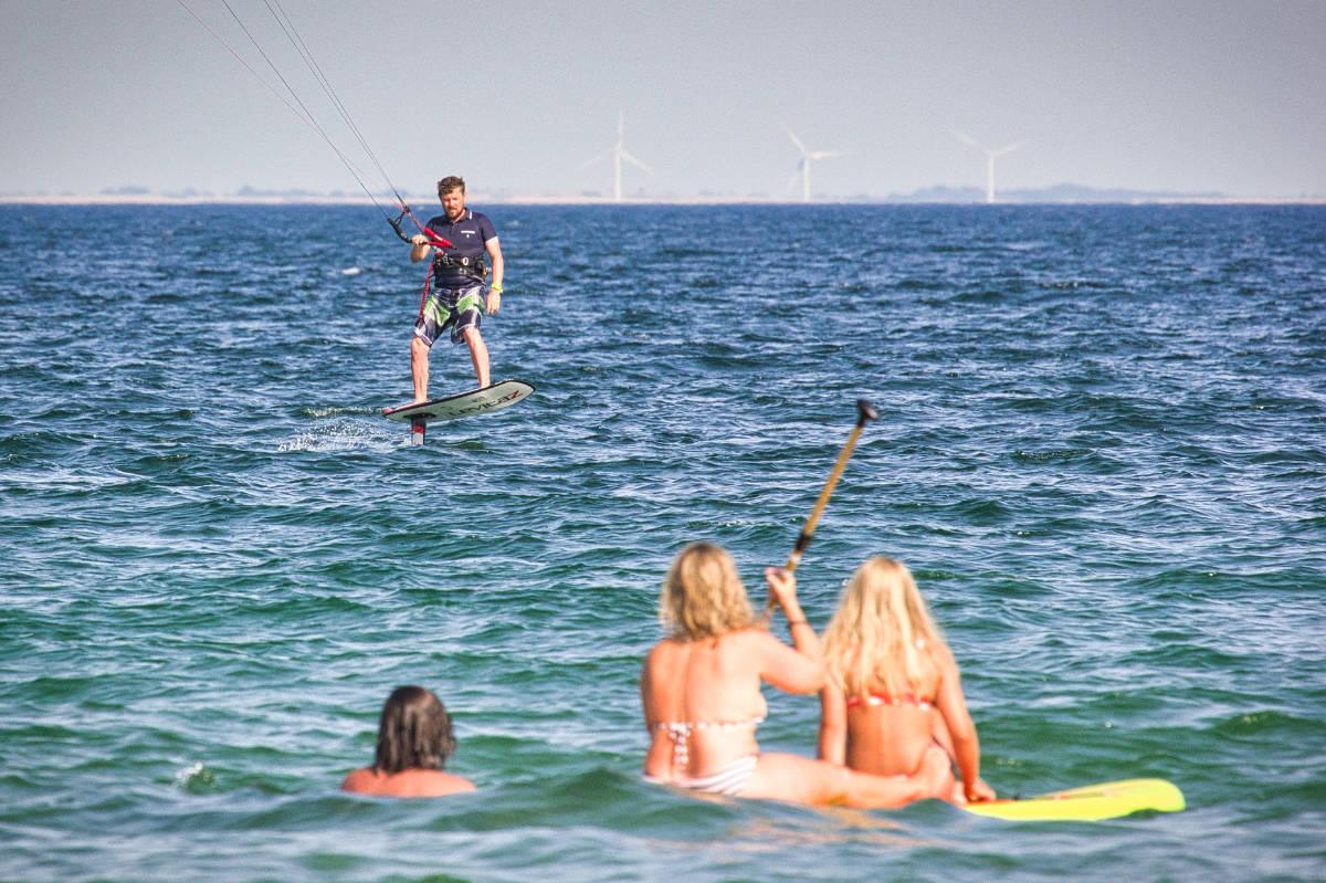 Kitefoiler mit Levitaz Foil in Dänemark